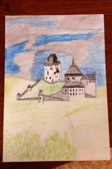 Anička Lapačová - hrad Karlštejn
